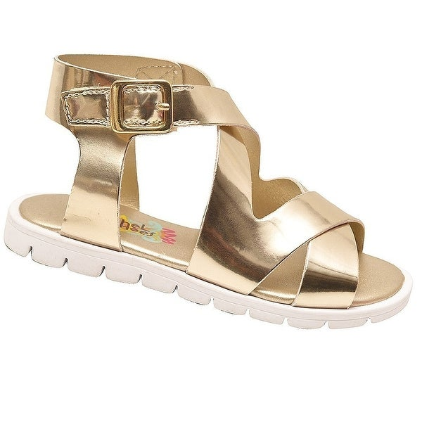 Shop Rachel Shoes Little Girls Gold Glossy Criss-Cross Strap Sandals - Free  Shipping On Orders Over  45 - Overstock.com - 23088609 198fec21d9e5