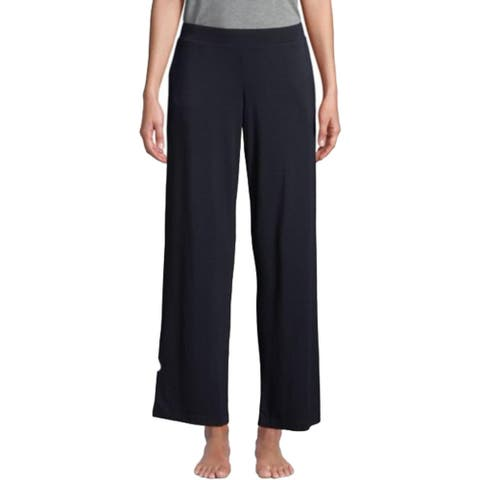 French Connection Women's Solid Wide Leg Elastic Waist Pull On Pajama Lounge Pants - Black