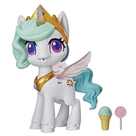 My Little Pony Magical Kiss Unicorn Princess Celestia -- Interactive Kids Toy With 3 Surprise Accessories, Lights,