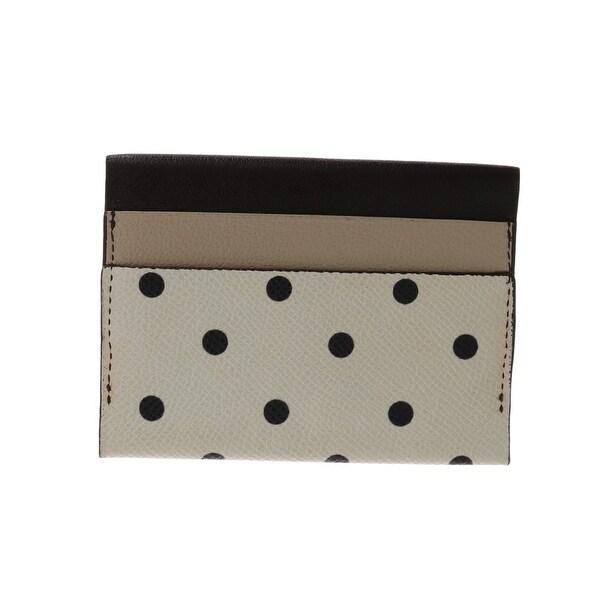 36c7f7322c Dolce  amp  Gabbana Dolce  amp  Gabbana White Black Polka Dot Print Leather  Wallet -