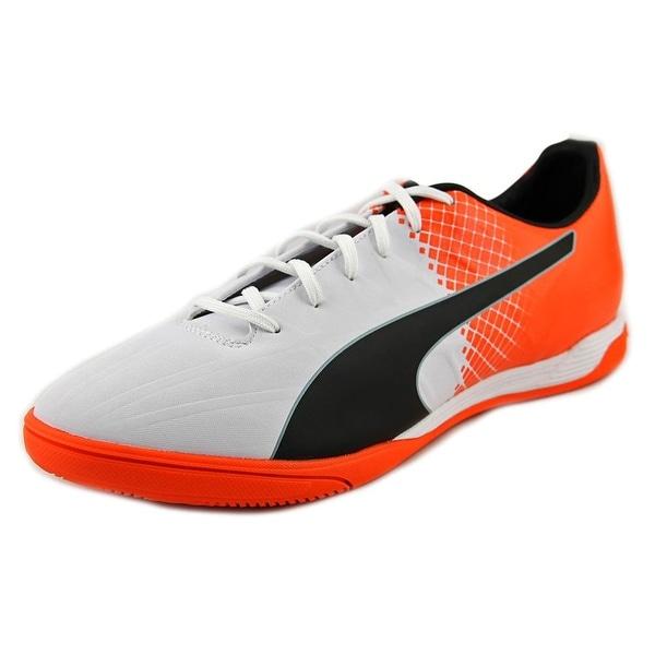 Puma evoSPEED 4.5 IT Men Puma White/Puma Black/Shocking Orange Cleats