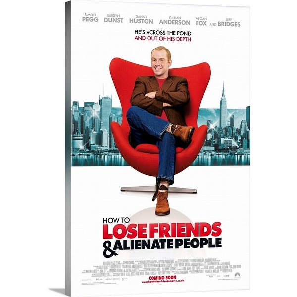 """How to Lose Friends and Alienate People - Movie Poster - UK"" Canvas Wall Art"