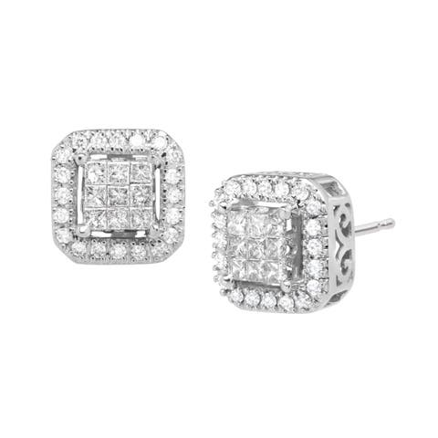 Silver Orchid Normand 1/2 ct Diamond Stud Earrings in 10K White Gold