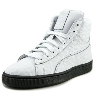 Puma Basket Classic Mid Emboss Jr Youth Synthetic White Fashion Sneakers