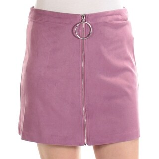 Womens Purple Mini A-Line Skirt Size M