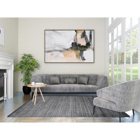 Wesley Contemporary Loom Knotted Indoor Area Rug