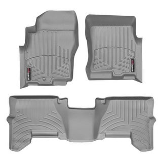 WeatherTech Nissan Pathfinder/Xterra 2005-2011 One Post Hole Grey Front & Rear Floor Mats FloorLiner 46033 1 2