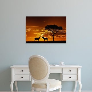 Easy Art Prints Adam Jones's 'Impalas' Premium Canvas Art