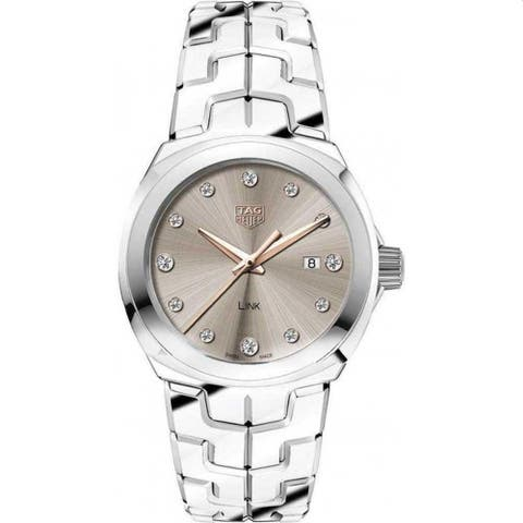 Tag Heuer Women's WBC131E.BA0649 'Link' Stainless Steel Watch - Brown
