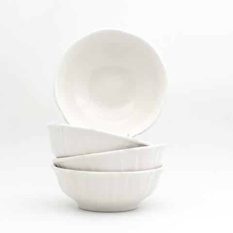 Euro Ceramica Chloe 22 oz Cereal Bowls, Set of 4