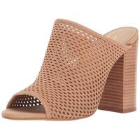 Aldo Womens Thiasa Leather Open Toe Mules