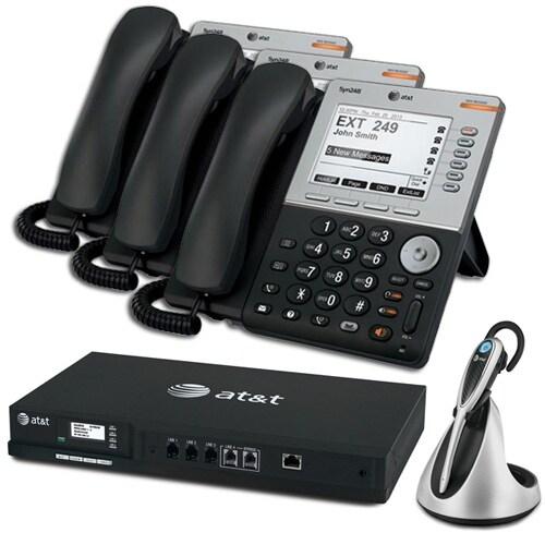 """AT&T SB35010 + (3) SB35031 + (1) TL7800 ATT Syn 248 SB35010 With 3 Multi-Line 5 inches LCD Screen Desksets plus Cordless"