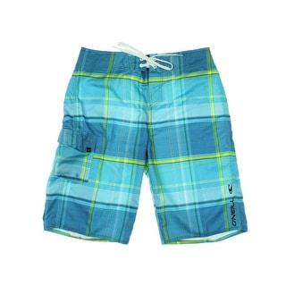 O'Neill Mens Plaid Cargo Board Shorts - 34