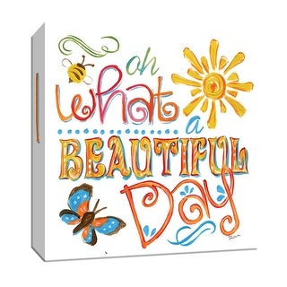 """PTM Images 9-147136  PTM Canvas Collection 12"""" x 12"""" - """"Beautiful Day"""" Giclee Sayings & Quotes Art Print on Canvas"""