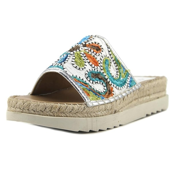 Patrizia By Spring Step Chill Women Open Toe Leather Multi Color Slides Sandal