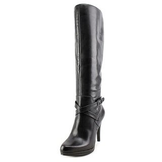 Nine West Romyo Peep-Toe Leather Knee High Boot