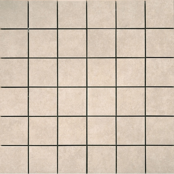 """Emser Tile F72PACI-1212MO2 Pacific - 2"""" x 2"""" Square Mosaic Floor and Wall Tile - Unpolished Stone Visual - Pacific Cream"""
