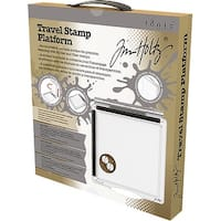 "Tim Holtz Travel Stamp Platform 6.5""X6.5""-"
