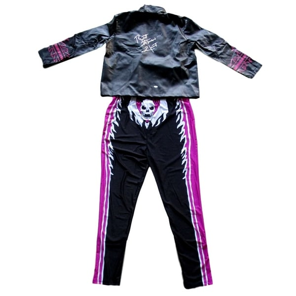 Shop Bret The Hitman Hart Signed Wwe Jacket With Full Costume Jsa Itp Overstock 17483532