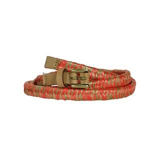 Nine West Women's Woven Straw Belt - L