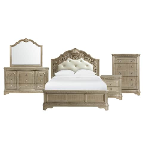 Picket House Furnishings Berlin King Panel 5PC Bedroom Set in Bronze