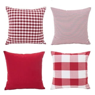 Link to Christmas Red White Throw Pillow Case Cushion Cover Holiday Décor Similar Items in Decorative Accessories