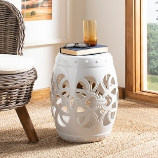 Link to Safavieh Imperial Vine White Ceramic Decorative Garden Stool Similar Items in Outdoor Decor