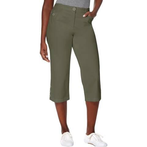 Karen Scott Womens Capri Pants Tummy Control Regular Fit