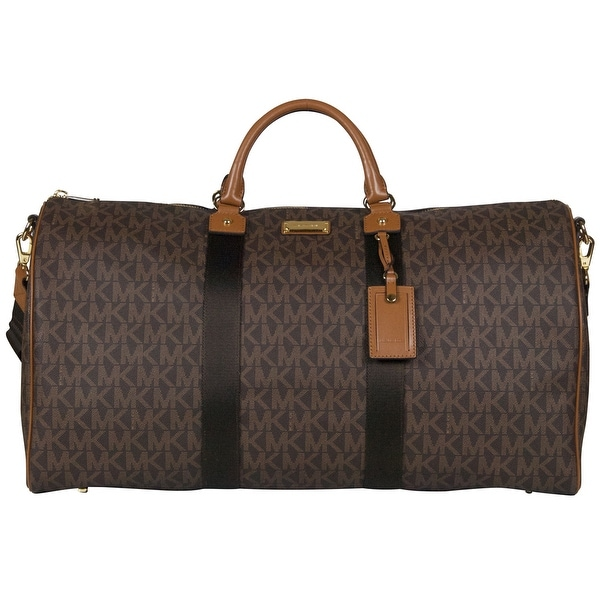 f54b29c45f62 Shop Michael Kors XL Signature Travel Duffle Tote Bag in Brown - Free  Shipping Today - Overstock - 22678545