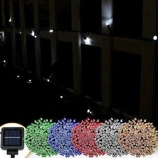 Sunnydaze Solar Powered Garden Patio String Lights - Multiple Options Available