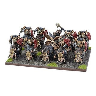 Kings of War - Abyssal Dwarf Slave Orc Gore Rider Regiment