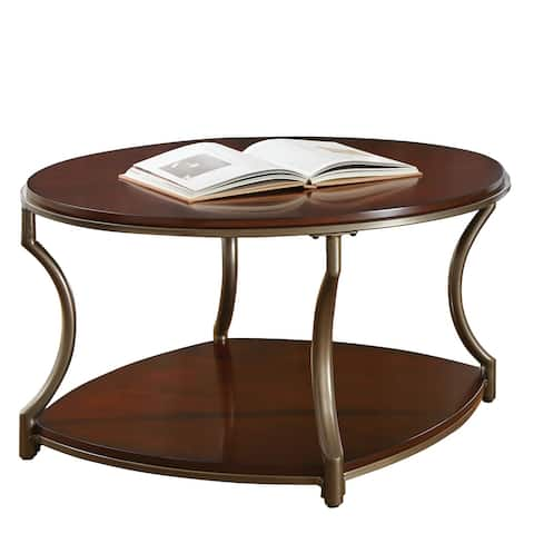 Copper Grove Marcus Round Mixed Media Coffee Table