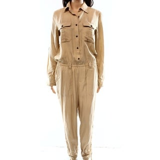 Lauren Ralph Lauren NEW Beige Women's Size 6 Button-Front Jumpsuit