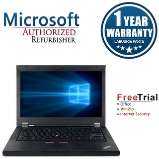 "Refurbished Lenovo ThinkPad T420 14.0"" Intel Core i5-2410M 2.3GHz 4GB DDR3 320GB DVD Win 10 Pro 64 (1 Year Warranty) - Black"