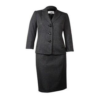 Le Suit Women's Cannes Welt-Pocket Notch Skirt Suit