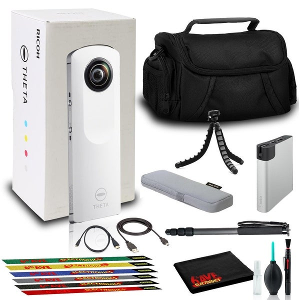 Ricoh Theta m15 Spherical VR Digital Cam (White) with Bag, Power Pack, and More. Opens flyout.