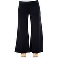 Plus Size Women's Brown Palazzo Pants Lose Fit Wide Leg Folding Waist Sexy Comfy - Thumbnail 2