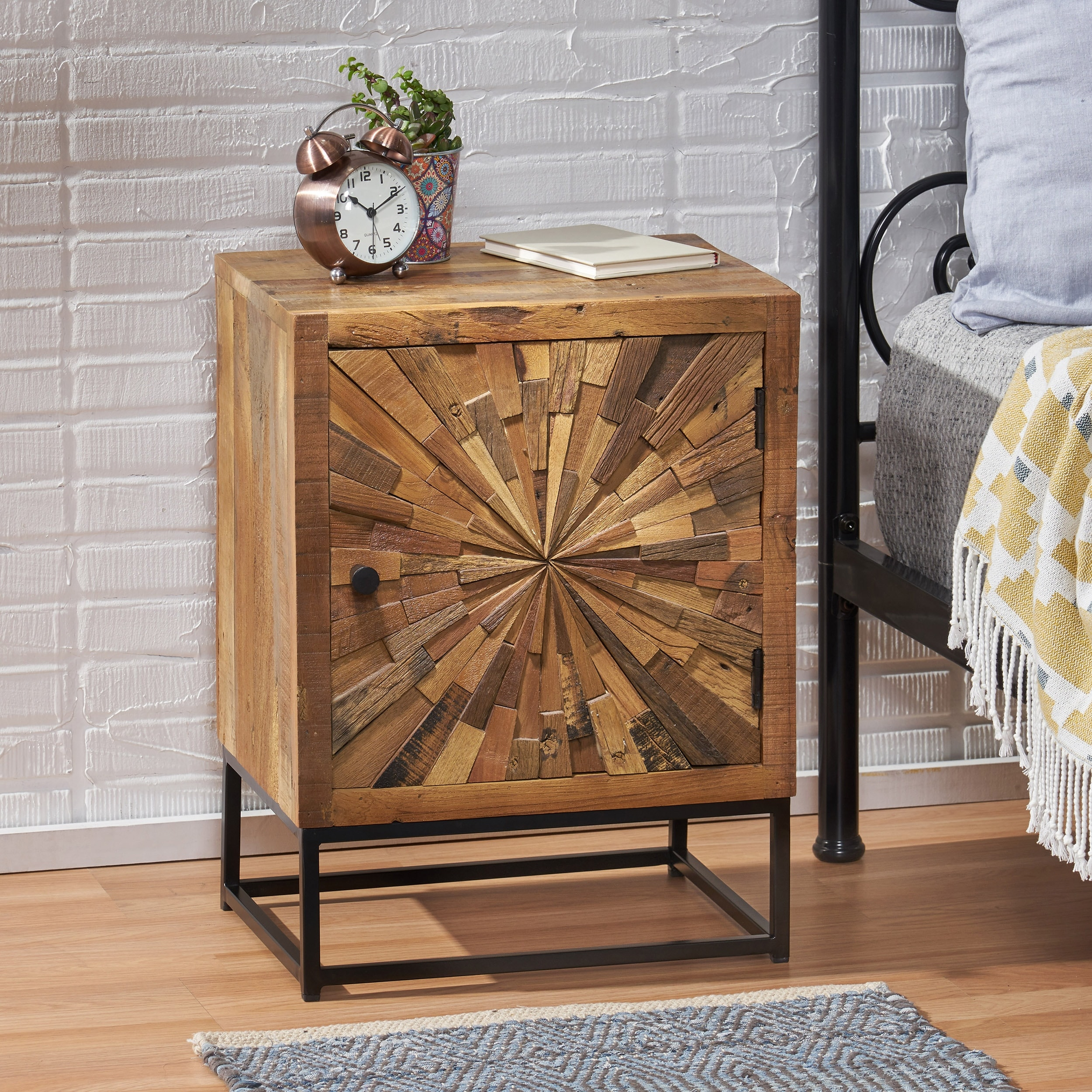 Orem Boho Wooden Night Stand By Christopher Knight Home Overstock 31318225