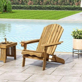 Link to Bellwood Outdoor Acacia Wood Folding Adirondack Chair by Christopher Knight Home Similar Items in Outdoor Sofas, Chairs & Sectionals
