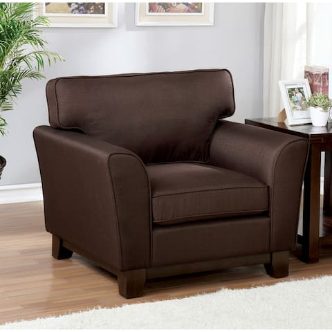 Copper Grove Juma Brown Chenille Cushioned Armchair