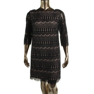 Jessica Howard Womens Lace Fringe Casual Dress