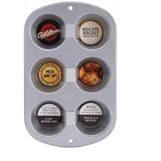 Wilton 2105-953 Recipe Right Regular Muffin Pan,  6 Cup