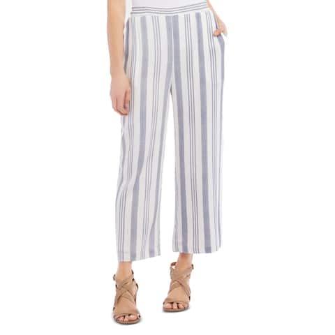 Karen Kane Women's Casual Pants Blue Size Large L Striped Pull On