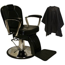 LCL Beauty Classic Style Hydraulic Lift Reclining Salon Chair