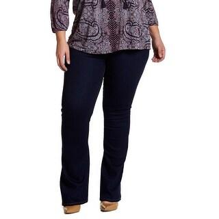Glamorous Indigo Womens Size 22 Plus Stretch Flare Denim Jeans
