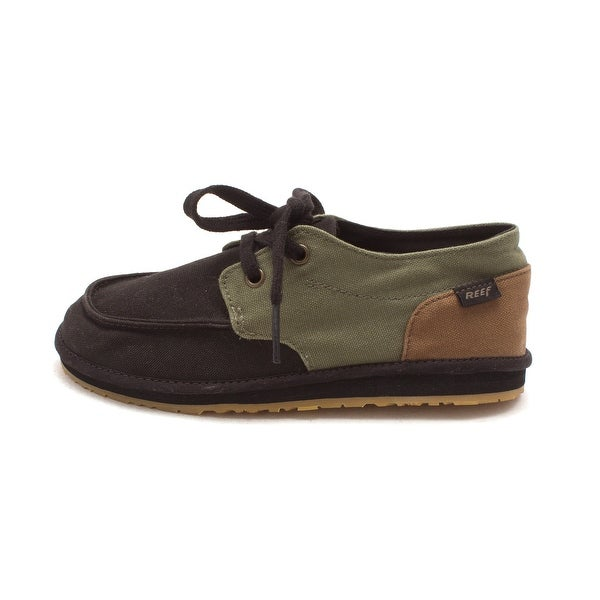 5aa4069aa7f57 Shop Reef Boys groom deckhand 3 Lace Up Mules, Green, Size 3y - Free ...