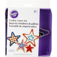 Nesting Metal Cookie Cutter Set 4/Pkg-Stars