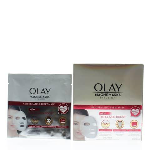 Olay Magnemasks Infusion Rejuvenating Sheet Mask - New Triple Skin Boost 5pcs x 24g