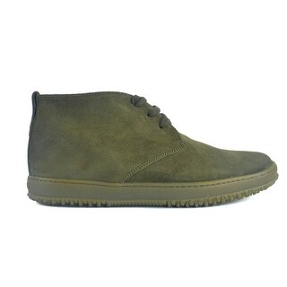 Hogan Mens Olive Green Suede Derby 3 Lace Up Shoes