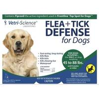 Vetri-Science Flea + Tick Defense For Dogs, 45-88 lbs, 3 Doses